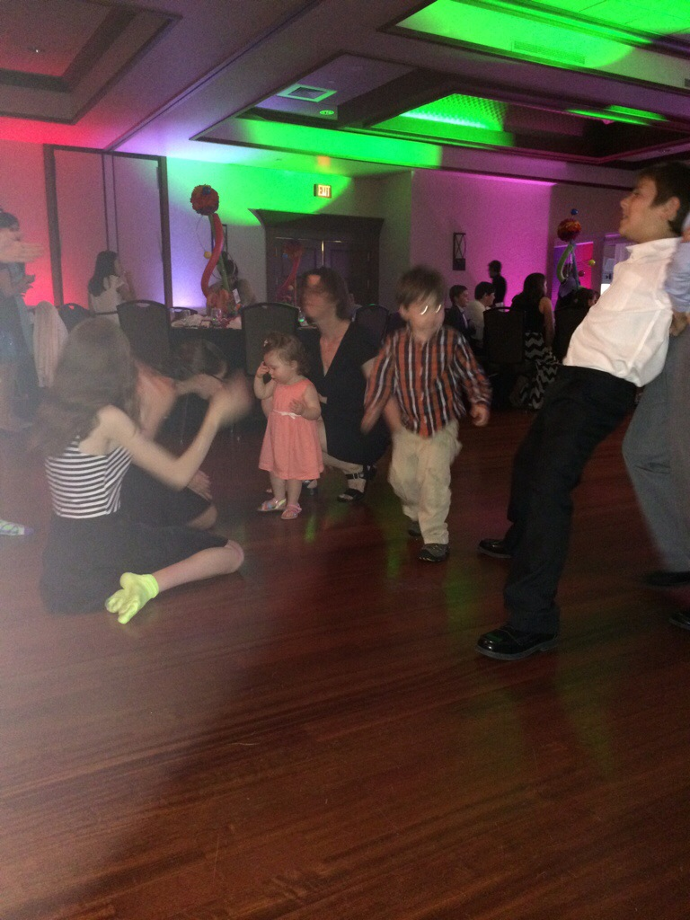 Laura and Brady doing the funky chicken at the Dalia Goldberg Bat Mitzva